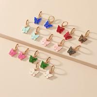 Moda coreana nicho simple combinación de mariposas pendientes de nueva tendencia de venta caliente NHKQ246966