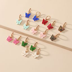 Korean fashion simple niche butterfly combination hot-saling new trend earrings  NHKQ246966