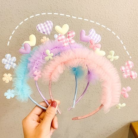 Creative love children's cute pink headband wholesale nihaojewerly NHNA247001's discount tags