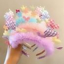 Creative love childrens cute pink headband wholesale nihaojewerly NHNA247001