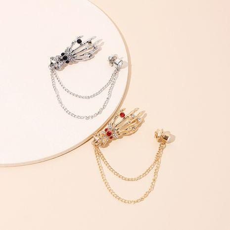 Accesorios para disfraces de halloween broche de borla de calavera de diamantes de imitación NHRN247005's discount tags