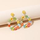 Fashion handmade flowers rice beads niche hotsaling womens earrings NHRN247009