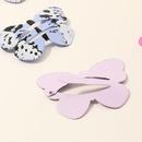 papillon mignon enfants pingle  cheveux impression couleur peinture mtal clip ensemble NHNU247032