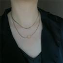 Fashion titanium steel niche short double simple minimalist clavicle chain necklace for women NHYQ247054