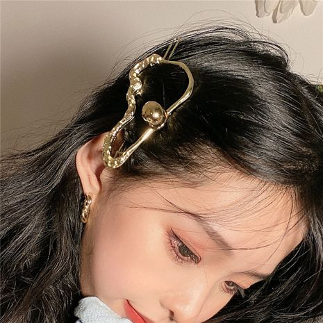 Korean metal texture top clip fashion clip simple headdress side clip wholesale NHYQ247057's discount tags