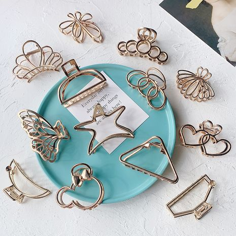 The new simplicity minimalist style metal catch clip wholesale nihaojewelry NHOF247088's discount tags