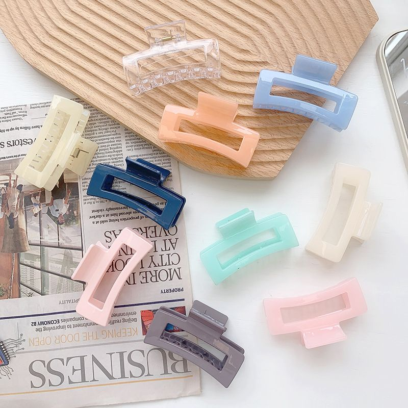 Plastic grabbing clip fashion all-match plate hair clip hairpin wholesale NHOF247098