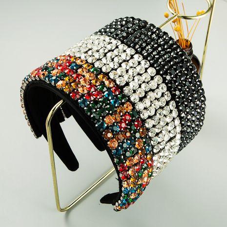 Diadema de diamantes de imitación de color barroco de tela de ala ancha al por mayor nihaojewerly NHLN247103's discount tags