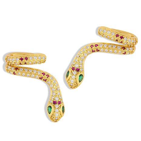 irregular ear bone clip snake-shaped ear clip geometric  hip-hop diamond earrings  NHAS247116's discount tags