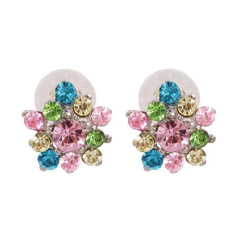 Boucles d'oreilles en alliage élégant de diamant de cristal de fleur de mode coréenne en gros NHJJ247121's discount tags
