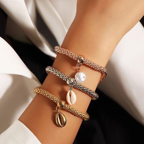 Ensemble de bracelet extensible pour femmes en alliage de trois couleurs à la mode NHNZ247149's discount tags