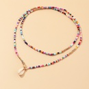 Wholesale Bohemian Color Rice Bead alloy Colorful Shell Necklace NHNZ247157