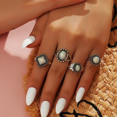 fashion simple geometric ring set  wholesale nihaojewelry NHNZ247163's discount tags