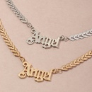 wholesale simple geometric single layer letter Angel necklace clavicle chain  NHNZ247160