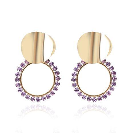 boucles d'oreilles de mode rondes géométriques en alliage rétro en gros nihaojewerly NHCT247172's discount tags