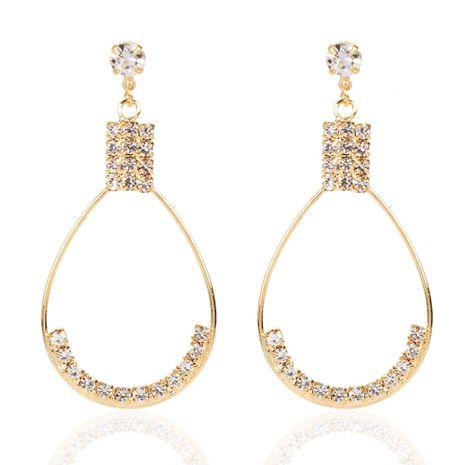Boucles d'oreilles créatives creuses en forme de goutte en alliage de diamant en gros nihaojewerly NHCT247173's discount tags