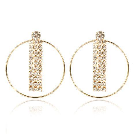 Boucles d'oreilles rondes géométriques en alliage coréen diamant en gros nihaojewerly NHCT247174's discount tags
