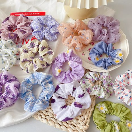 Korean simple retro head rope hair scrunchies  wholesale nihaojewelry NHCQ247191's discount tags
