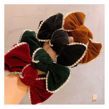 street style retro velvet full diamond double bow headband wholesale nihaojewerly NHHD247241's discount tags