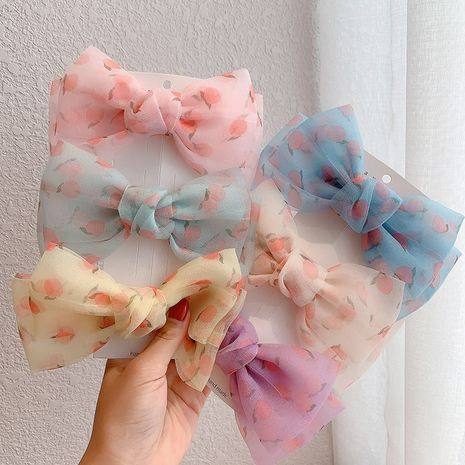 Korea new sweet bow cute girl retro hairpin wholesale nihaojewelry NHCQ247277's discount tags