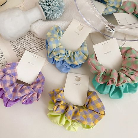 Korea's new tie hair rubber band simple hair scrunchies  wholesale nihaojewelry NHCQ247280's discount tags