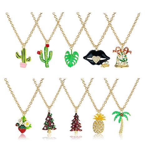 Collier de série de Noël de fruits en alliage de strass de mode simple NHAP247290's discount tags
