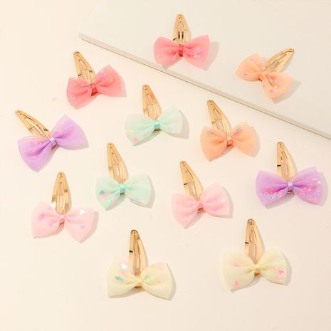children's colorful yarn bow BB clip  NHNU247353's discount tags
