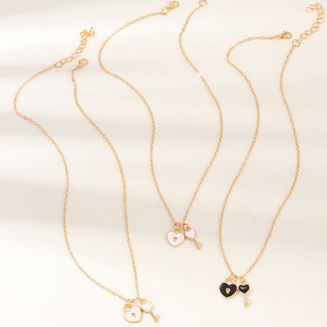 creative key dripping oil necklace children clavicle chain necklace wholesale NHNU247357's discount tags