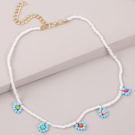 Fashion long hand-woven rice bead flower necklace  NHLA247387's discount tags