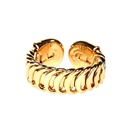 New retro style copper plated ancient gold ring fashion opening ring wholesale NHPY247391
