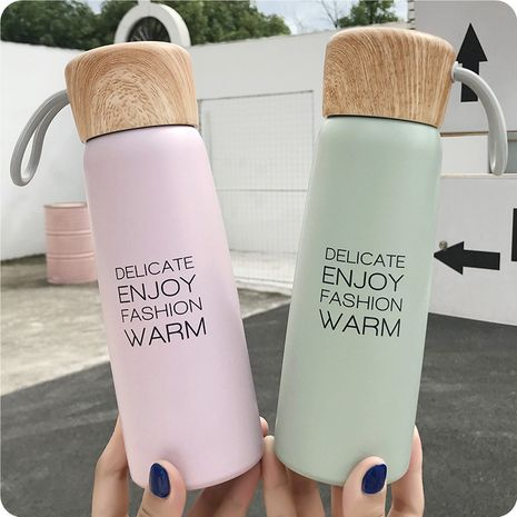 New student stainless steel vacuum flask Korean cute cartoon couple accompanying portable water cup NHtn247424's discount tags