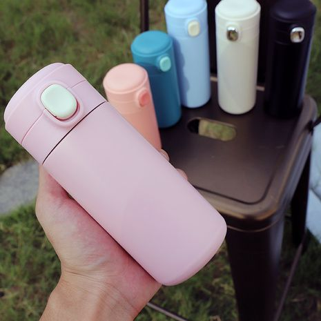 Korean  simple stainless steel vacuum flask mini small portable cute cup  NHtn247436's discount tags
