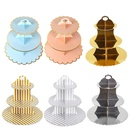 Childrens birthday dessert table wedding party supplies decorations disposable paper cake stand NHAH247456