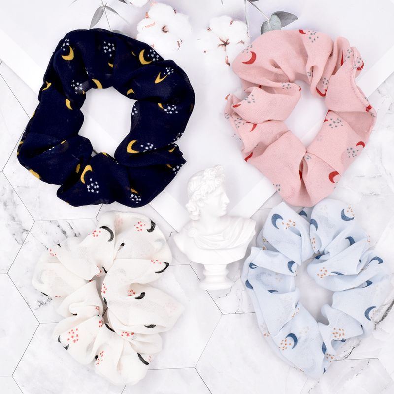 Korea Girl Moon Hair Tie Fabric Chiffon Ponytail Rubber Band Head Rope Hair Tie wholesale NHCL247485