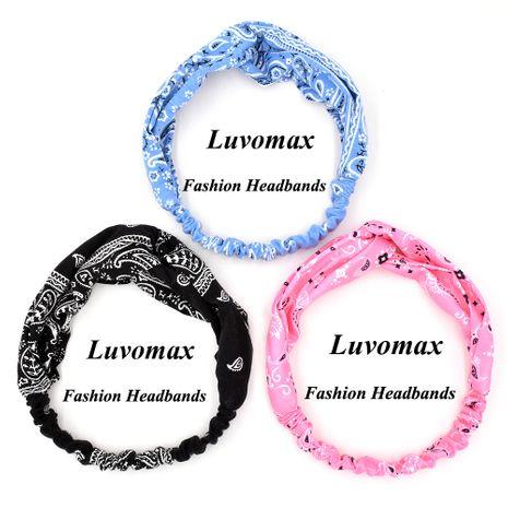 Nuevo estilo hip-hop marea marca flor de anacardo retro tejido de punto diadema de mujer NHCL247493's discount tags