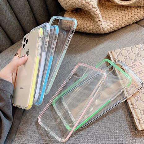 Color frame transparent soft shell iPhone 11xs max/XR mobile phone case wholesale NHFI247496's discount tags