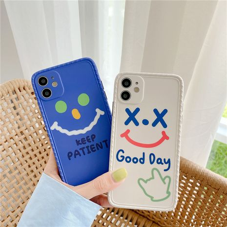 Korean style smiling face expression Apple 11ProMax all-inclusive camera phone soft case for 8plusXR se2 NHFI247500's discount tags