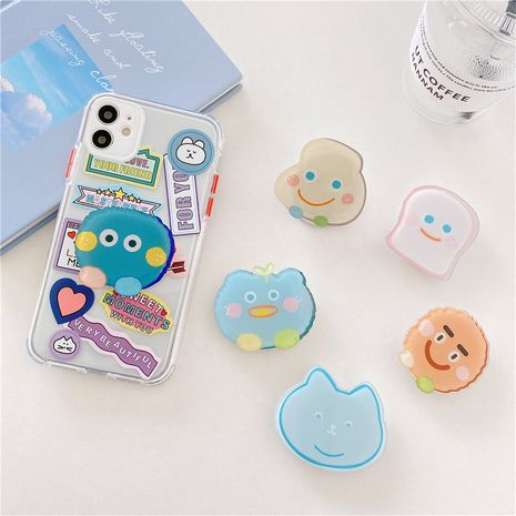 Korean cartoon folding bracket new epoxy ring phone bracket wholesale NHFI247501's discount tags