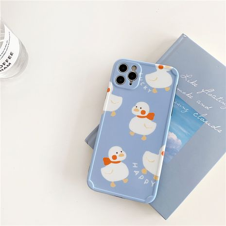 Cute Scarf Duckling Apple 11Pro Max All-Inclusive Camera Phone Case for 8plusXR se2 Female NHFI247503's discount tags