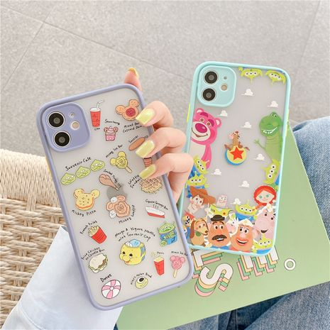 Korea cute cartoon Apple 11Pro Max mobile phone case for iPhoneXS se2 8plus liquid case NHFI247506's discount tags
