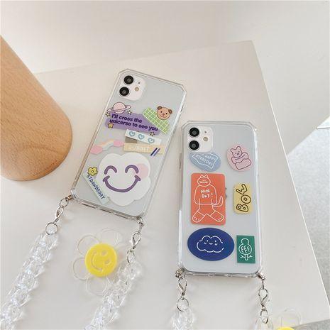 Cas de téléphone portable mignon de bande dessinée de chaîne de fleur de soleil pour iPhone11pro Max Apple SE2 Soft Shell 8plus NHFI247508's discount tags
