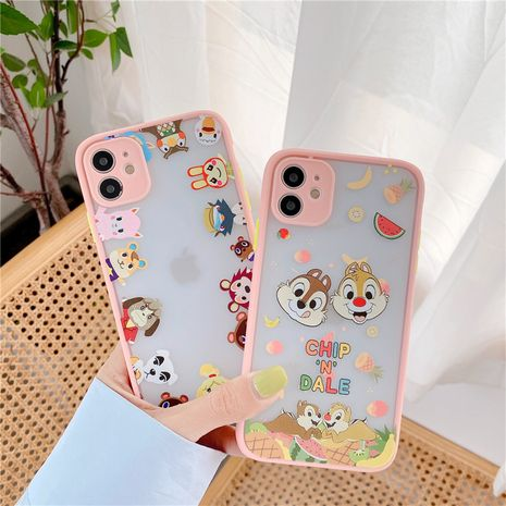 South Korea cute cartoon Apple 11Pro Max mobile phone case for iPhoneXS se2 8plus liquid case NHFI247509's discount tags