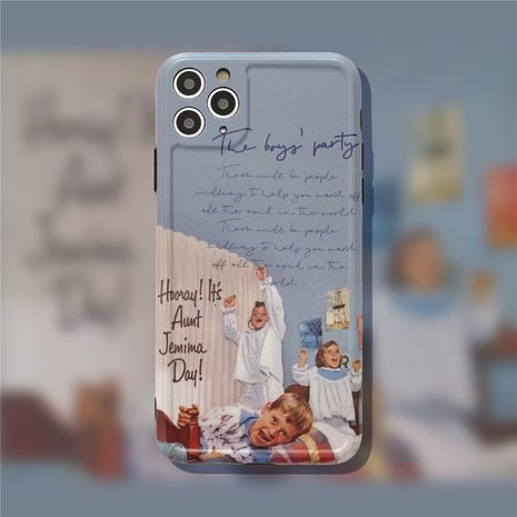 Oil painting  boy party Apple 11Pro Max all-inclusive camera phone case for 8plusXR se2 NHFI247512's discount tags