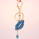 Korean fashion diamond red lips mouth ladies bag accessories key chain metal pendant NHAK247549