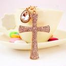 Hot Sale Christian Water Drop Diamond Cross Metal Pendant womens Bag Accessories Keychain NHAK247557
