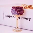 Diamond Crystal Wine Glass Car Keychain  NHAK247560