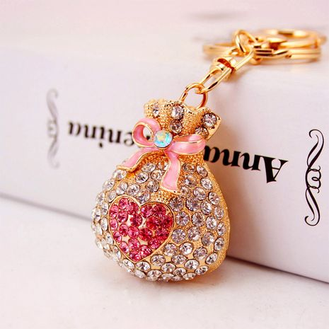 Korean alloy lucky purse diamond keychain  NHAK247589's discount tags