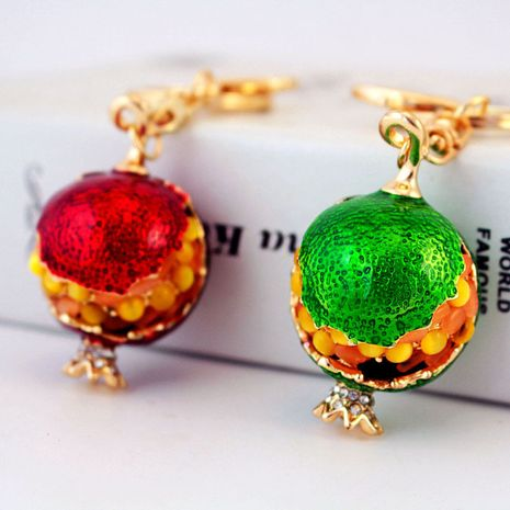 pendant opal pomegranate metal pendant fruit women's key chain  NHAK247590's discount tags