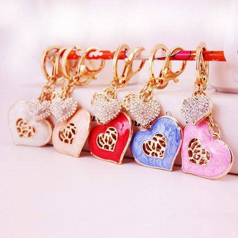 Korean handmade oil dripping love couple keychain  NHAK247597's discount tags