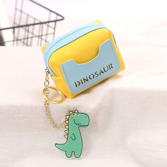 Bonbons Couleur Correspondant Creatif Dessin Anime Dinosaure Piece Sac Dames Mini Sac De Rangement En Gros